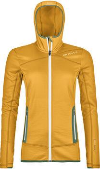 ORTOVOX Fleece Kapuzenjacke Damen gelb