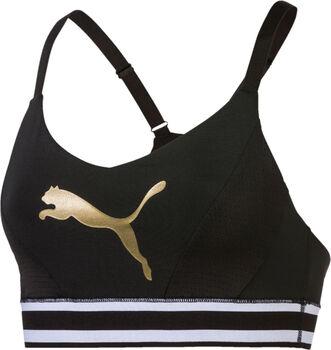 Puma Logo M Sport-BH Damen schwarz