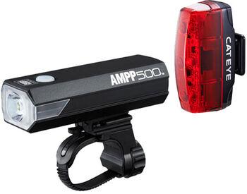 CatEye AMPP 500 Licht-Set schwarz