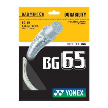 Yonex BG 65 TI Badmintonsaite weiß