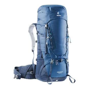 Deuter Aircontact 45 + 10 Trekkingrucksack blau