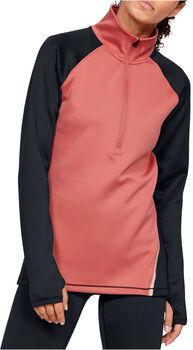 Under Armour Coldgear® Langarmshirt mit Halfzip Damen pink