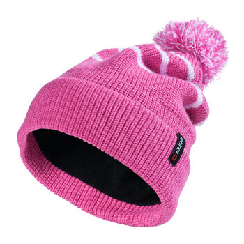 Eisbär Clip Pompon Mütze pink
