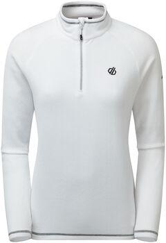 Dare 2b Freeform II Fleece Langarmshirt mit Halfzip Damen weiß