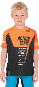 CUBE X Actionteam Fahrradhandschuhe orange