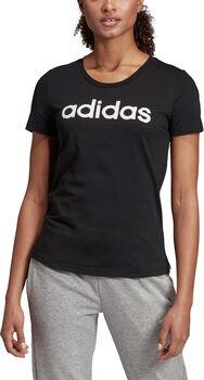 ADIDAS Brush Effect Logo Graphic T-Shirt Damen schwarz