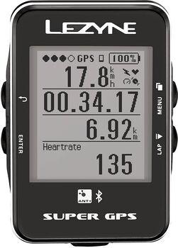Lezyne Super GPS Radcomputer schwarz