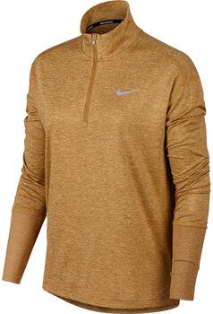 Nike Element Half Zip Langarmshirt Damen gelb