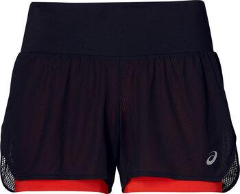 Asics Cool 2-IN-1 Laufshort Damen schwarz