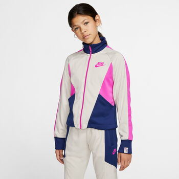 Nike Sportswear Heritage Trainingsjacke Mädchen weiß