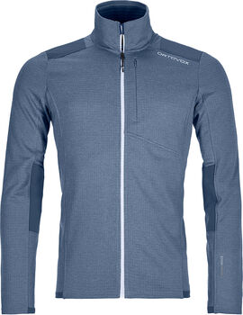 ORTOVOX Fleece Light Grid Fleecejacke Herren blau