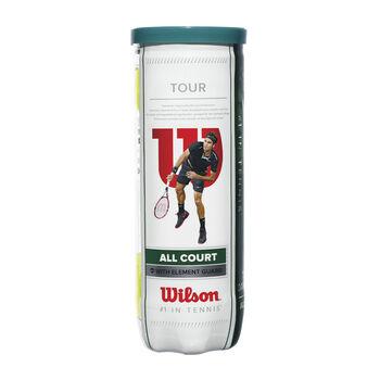 Wilson Tour All Court 3er Pack Tennisbälle weiß