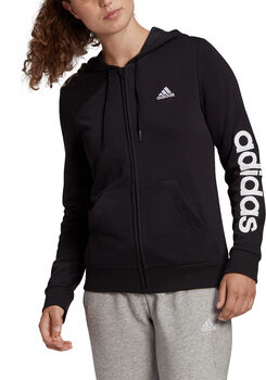 adidas Essentials Kapuzenjacke Damen schwarz