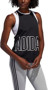 adidas Alphaskin Graphic Tanktop Damen schwarz