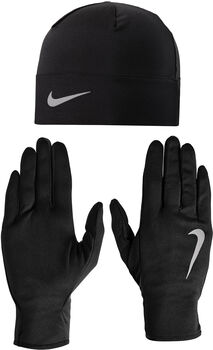 Nike Run Dry Hat and GloveSet schwarz