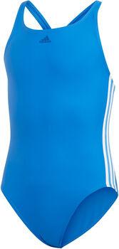ADIDAS Athly V 3-Streifen Badeanzug Mädchen blau