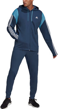 adidas Ribbed Insert Trainingsanzug Herren blau