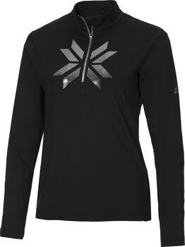 McKINLEY Daria II Langarmshirt mit Half Zip Damen schwarz