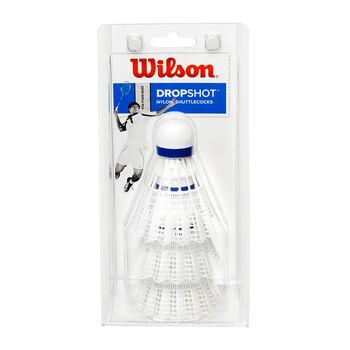 Wilson Dropshot 3-er Dose Badmintonbälle weiß