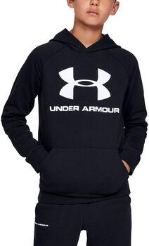 Under Armour Rival Logo Hoodie Jungen schwarz