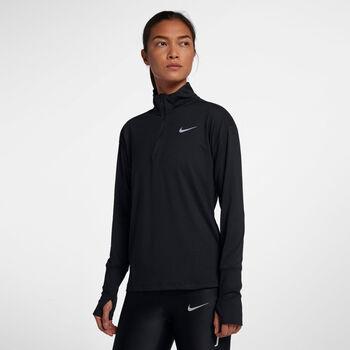 Nike Element Langarmshirt mit Halfzip Damen schwarz
