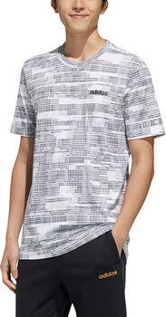 ADIDAS ESS AOP T-Shirt Herren weiß