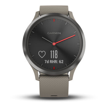 Garmin vivomove HR Sport Fitnesstracker braun
