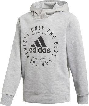 ADIDAS Sport ID Kapuzensweater grau