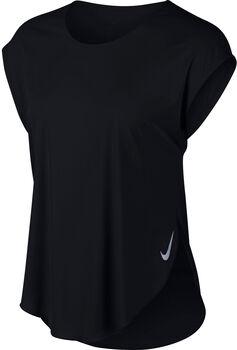Nike City Sleek Laufshirt Damen schwarz
