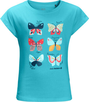 Jack Wolfskin Butterfly T-Shirt blau