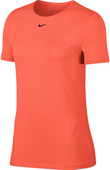 Nike Pro SS All Over T-Shirt Damen orange