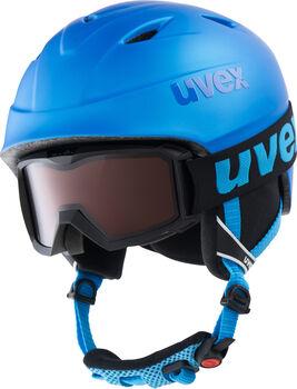 Uvex Airwing 2 Pro Skihelm & Brille blau