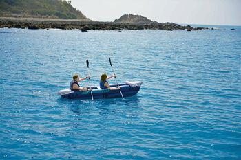 Happy People Kanu aufblasbar für 2 Personen blau