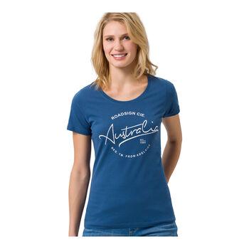 Roadsign Modern Basic Shirt kurzarm Damen blau