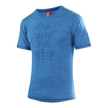 LÖFFLER Merino Shirt  Herren blau