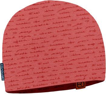 ORTOVOX 120 Tec Print Mütze rot