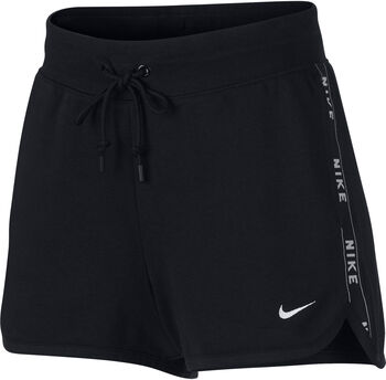 Nike W Nsw Short Flc Logo Short Damen schwarz