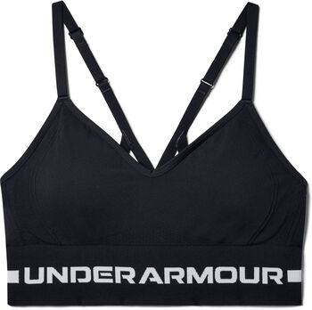 Under Armour Seamless Low Long Sport-BH Damen schwarz