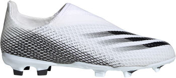 adidas X Ghosted.3 Laceless FG Fußballschuhe weiß