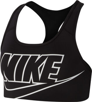 Nike Swoosh Sport-BH Damen schwarz