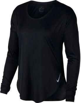 Nike City Sleek Langarmshirt Damen schwarz