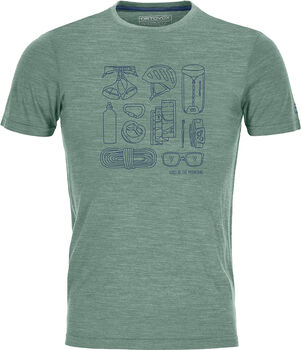ORTOVOX Cool Tec Puzzle T-Shirt Herren grün