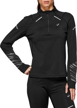 Asics LITE-SHOW 2 WINTER Langarmshirt mit Halfzip Damen schwarz