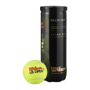 Wilson Us Open 4-er Tennisbälle gelb