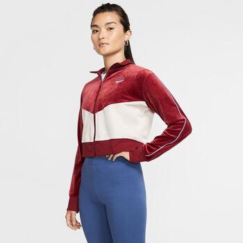 Nike Sportswear Heritage Fleecejacke Damen rot
