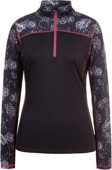 Icepeak Cuneo Langarmshirt mit Halfzip schwarz