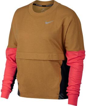 Nike Therma Sphere Laufshirt langarm Damen gelb