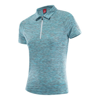LÖFFLER Rainbow Halfzip Poloshirt Damen blau