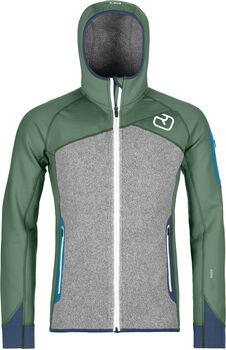 ORTOVOX Fleece Plus Fleecejacke mit Kapuze Herren grün