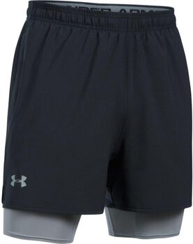 Under Armour QUALIFIER 2IN1 Shorts Herren schwarz